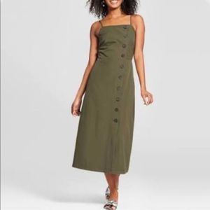 WhoWhatWear Button front dress